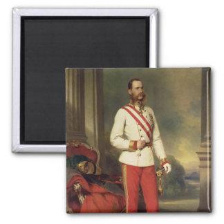 Franz Joseph I, Emperor of Austria Square Magnet