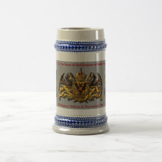 Franz Joseph I of Austria Hungary 18 Oz Beer Stein