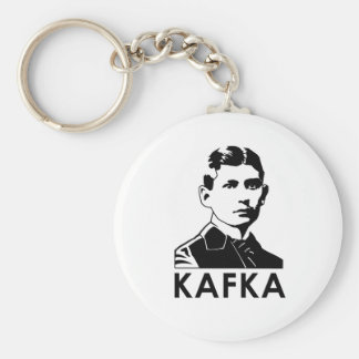 Franz Kafka Basic Round Button Key Ring