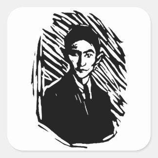 Franz Kafka Portrait Square Sticker