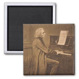 Franz Liszt at the Piano Fridge Magnets