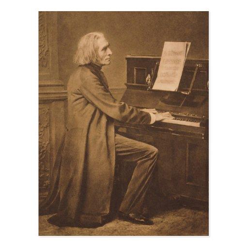 Franz Liszt  at the Piano Post Card