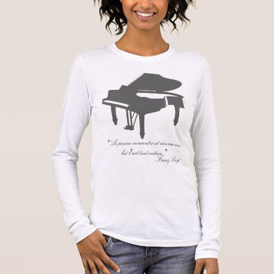 Franz Liszt quote Long Sleeve T-Shirt