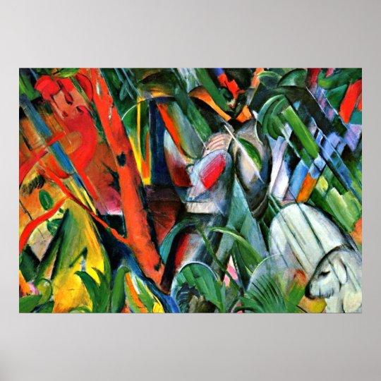 Franz Marc art: In the Rain Poster