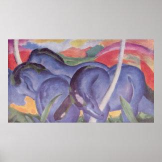 Franz Marc - Big Blue Horse 1911 Canvas Equine Poster