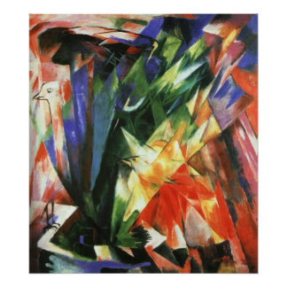 Franz Marc - Birds 1914 Oil Canvas bird flock Poster