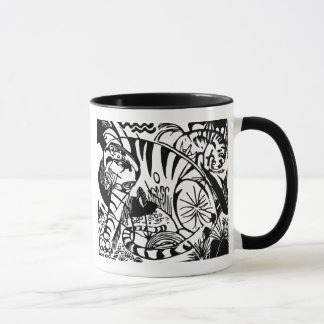 Franz Marc - Black and White Tiger - Abstract Art Mug