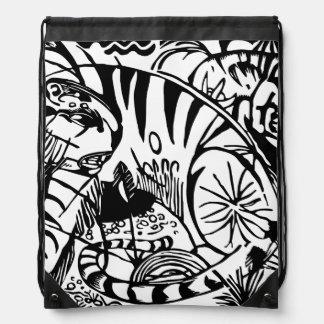 Franz Marc - Black and White Tiger Rucksack
