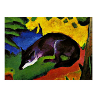 Franz Marc - Blue Fox Poster