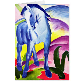 Franz Marc - Blue Horse I Card