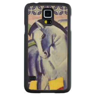 Franz Marc Blue Horse Vintage Fine Art Painting Carved Maple Galaxy S5 Case