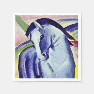 Franz Marc Blue Horse Vintage Fine Art Painting Disposable Napkins