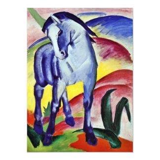 Franz Marc Blue Horse Vintage Fine Art Painting 14 Cm X 19 Cm Invitation Card