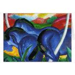 Franz Marc Blue Horses Greeting Card
