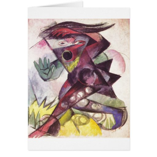 Franz Marc - Caliban Tempest Shakespeare 1914 Greeting Cards
