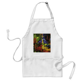 Franz Marc- Deer in the Forest II Aprons