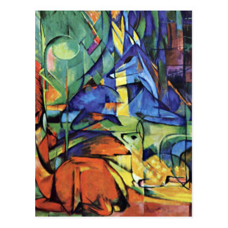 Franz Marc - Deer in the forest (II) Postcard