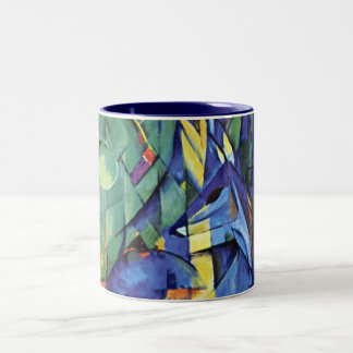Franz Marc - Deer in the forest (II) Two-Tone Coffee Mug