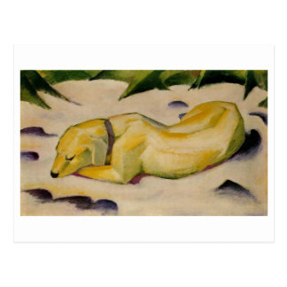 Franz Marc - Dog Lying in Snow 1910-11 Puppy White Post Card