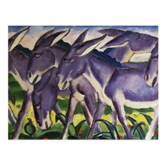 Franz Marc- Donkey Frieze Postcard