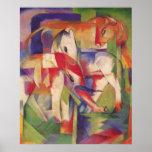Franz Marc - Elephant Horse Cattle Winter 1913-14 Print