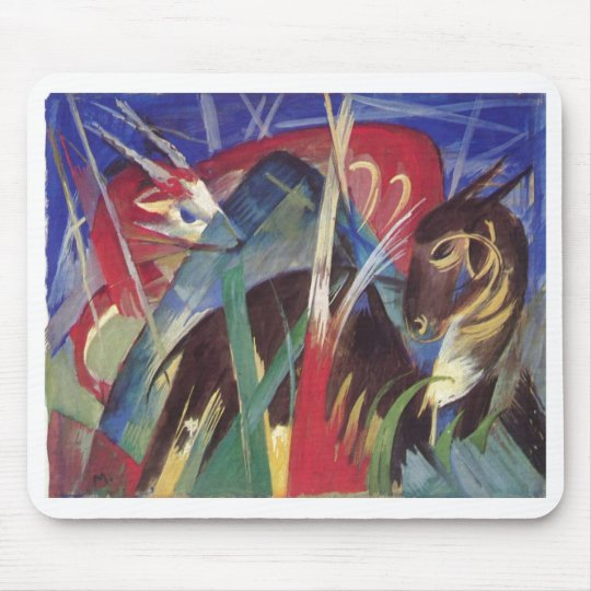 Franz Marc - Fabeltiere I 1913 Horse Abstract Mouse Mat