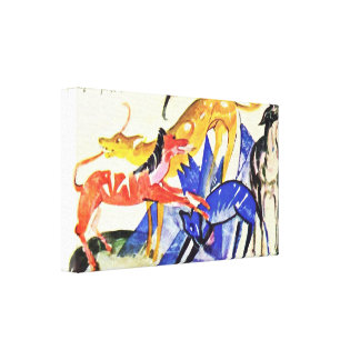 Franz Marc - Four service dogs of Prince Jusuff Gallery Wrapped Canvas