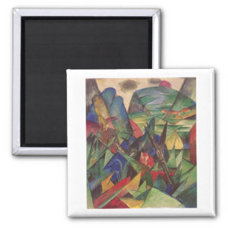 Franz Marc - Foxes 1913 Oil Canvas Red Fox Sly Fridge Magnets