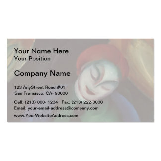 Franz Marc- Girl with Cat II Business Cards
