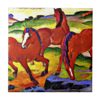 Franz Marc - Grazing Horses IV. 1911 Small Square Tile