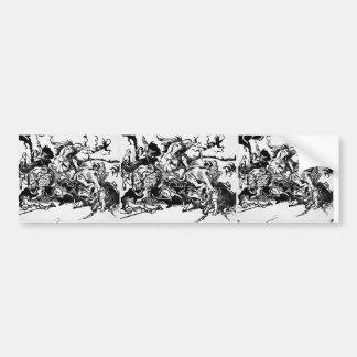 Franz Marc- Lion Hunt (after Delacroix) Bumper Sticker