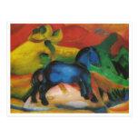 Franz Marc - Little Blue Horse 1912 Oil Canvas