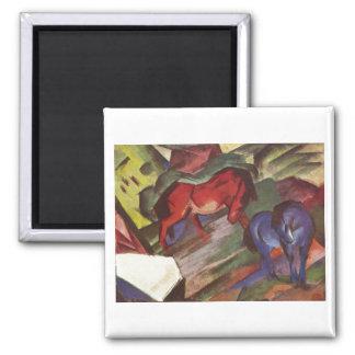 Franz Marc - Red Blue Horse 1912 Paper Horses Fridge Magnets