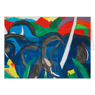 Franz Marc - The Blue Horse Card