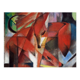 Franz Marc - The Foxes, 1913 Postcard