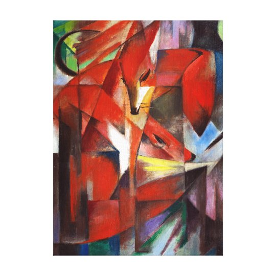 Franz Marc The Foxes Canvas Print
