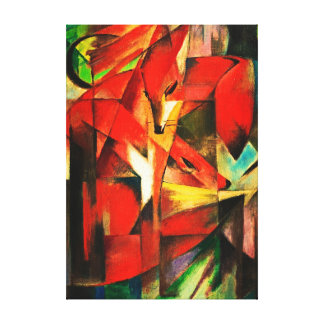 Franz Marc The Foxes Red Fox German Expressionism Canvas Print