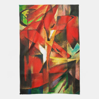 Franz Marc The Foxes Red Fox German Expressionism Towels