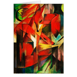 Franz Marc The Foxes Red Fox Modern Art Painting Card