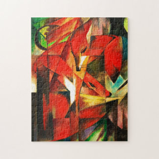 Franz Marc The Foxes Red Fox Modern Art Painting Jigsaw Puzzle