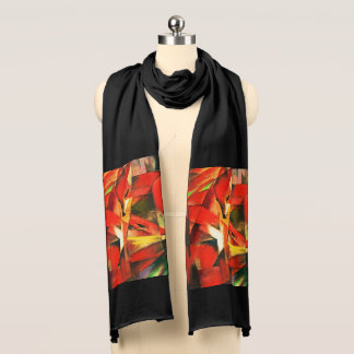 Franz Marc The Foxes Red Fox Modern Art Painting Scarf