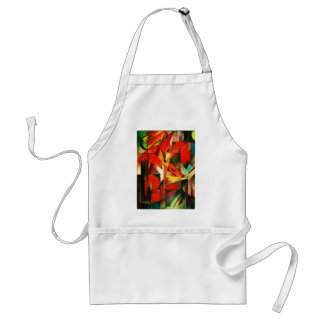 Franz Marc The Foxes Red Fox Modern Art Painting Standard Apron