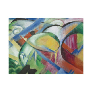 Franz Marc, the sheep/ フランツ·マルク,  ヒツジ Stretched Canvas Prints