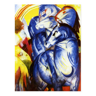 Franz Marc The Tower of Blue Horses Postcard