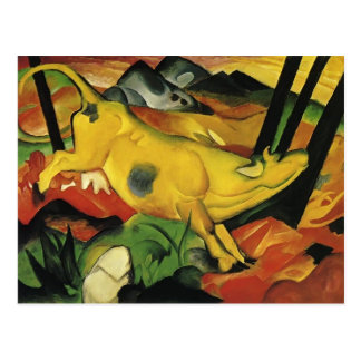 Franz Marc- The Yellow Cow Postcard