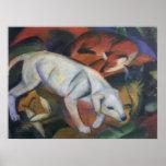 Franz Marc - Three Animals 1912 dog fox cat oil