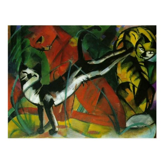 Franz Marc- Three Cats Postcard