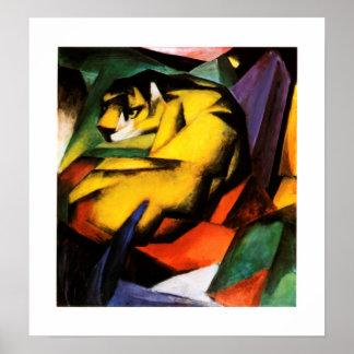 Franz Marc - Tiger (1912) Poster