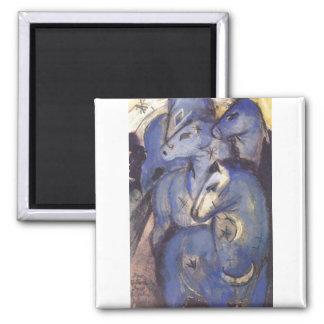Franz Marc - Tower of Blue Horses 1913 Equestrian Refrigerator Magnet