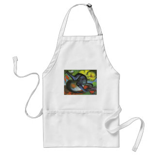 Franz Marc- Two Cats, Blue and Yellow Standard Apron